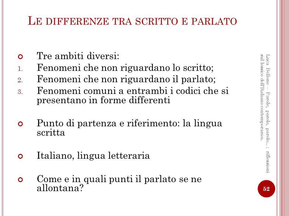 Le differenze tra scritto e parlato