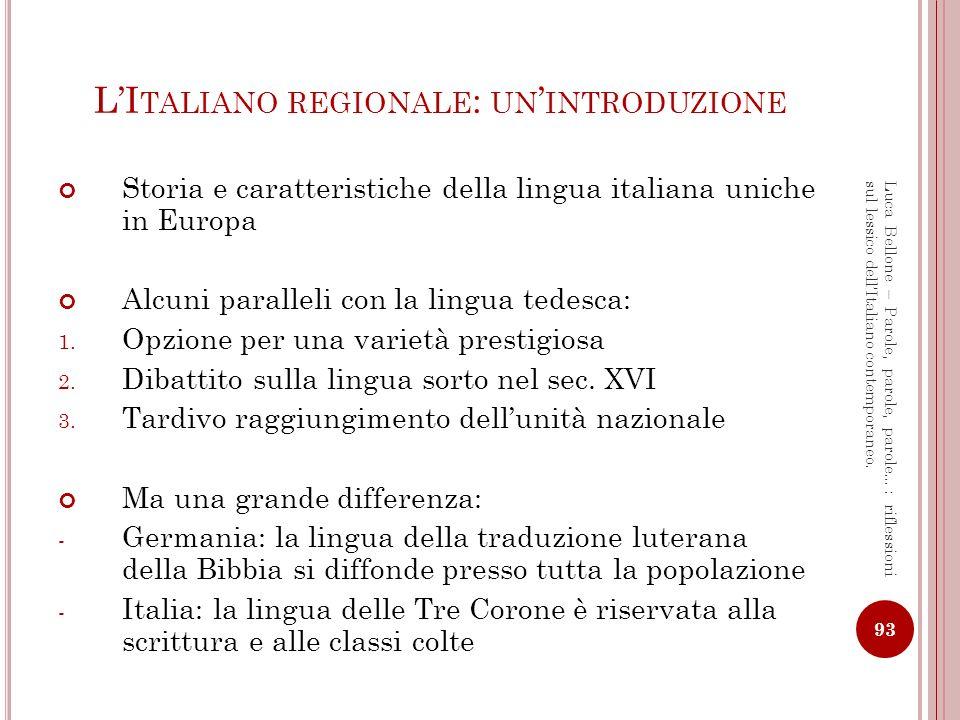 L'Italiano regionale: un'introduzione