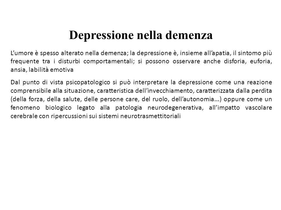 Depressione nella demenza