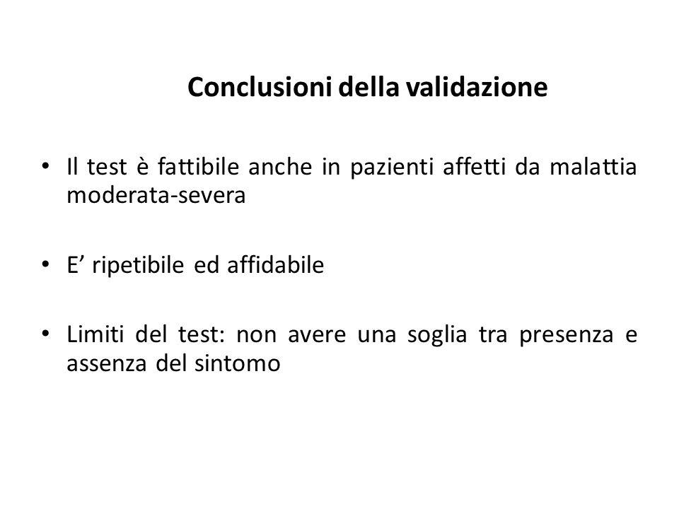 Conclusioni della validazione