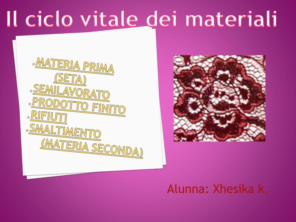 Il ciclo vitale dei materiali