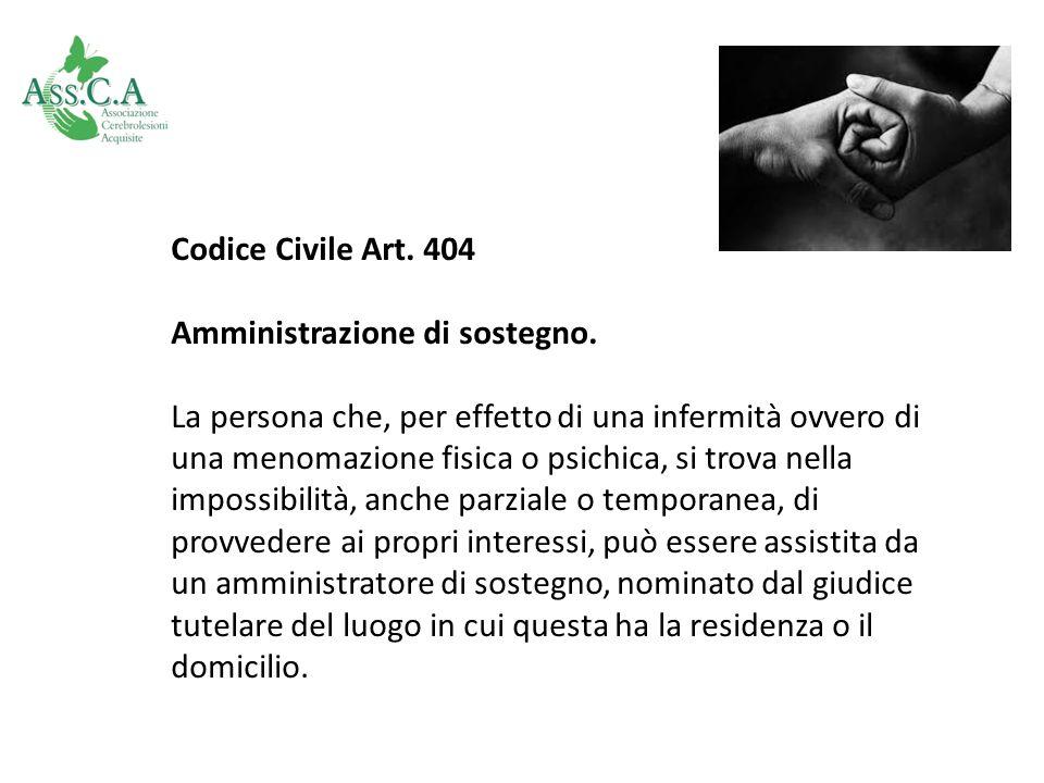 Codice Civile Art. 404 Amministrazione di sostegno.