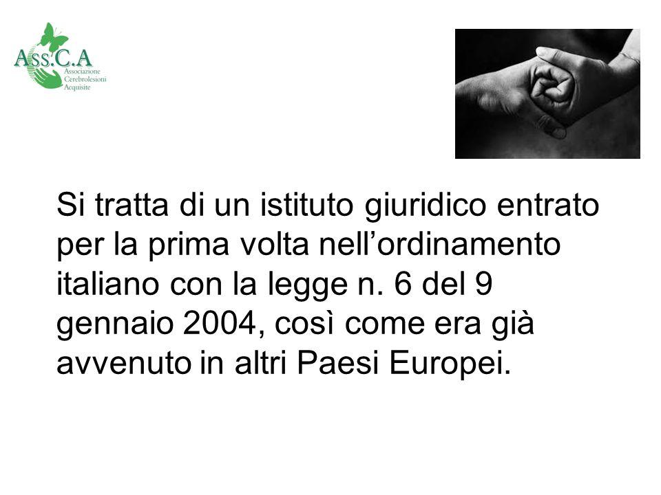 Si tratta di un istituto giuridico entrato per la prima volta nell'ordinamento italiano con la legge n.