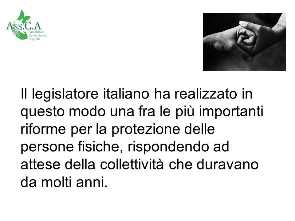 Il legislatore italiano ha realizzato in questo modo una fra le più importanti riforme per la protezione delle persone fisiche, rispondendo ad attese della collettività che duravano da molti anni.