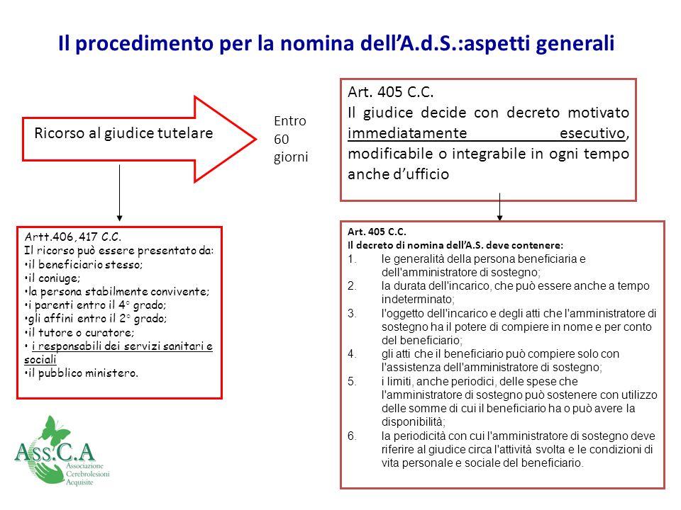 Il procedimento per la nomina dell'A.d.S.:aspetti generali