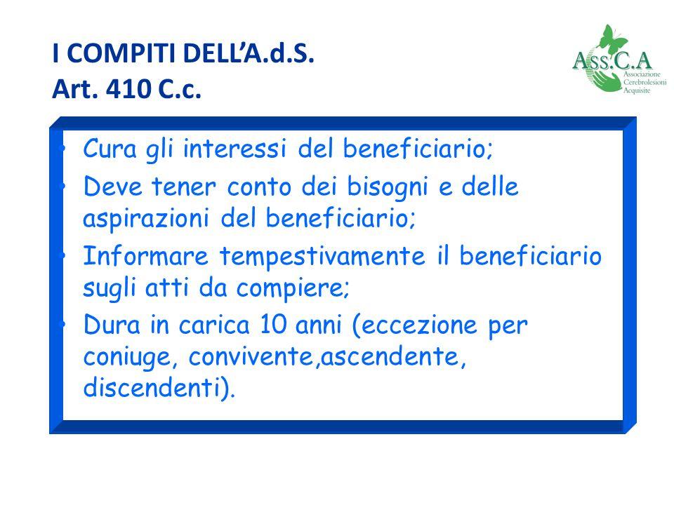 I COMPITI DELL'A.d.S. Art. 410 C.c.