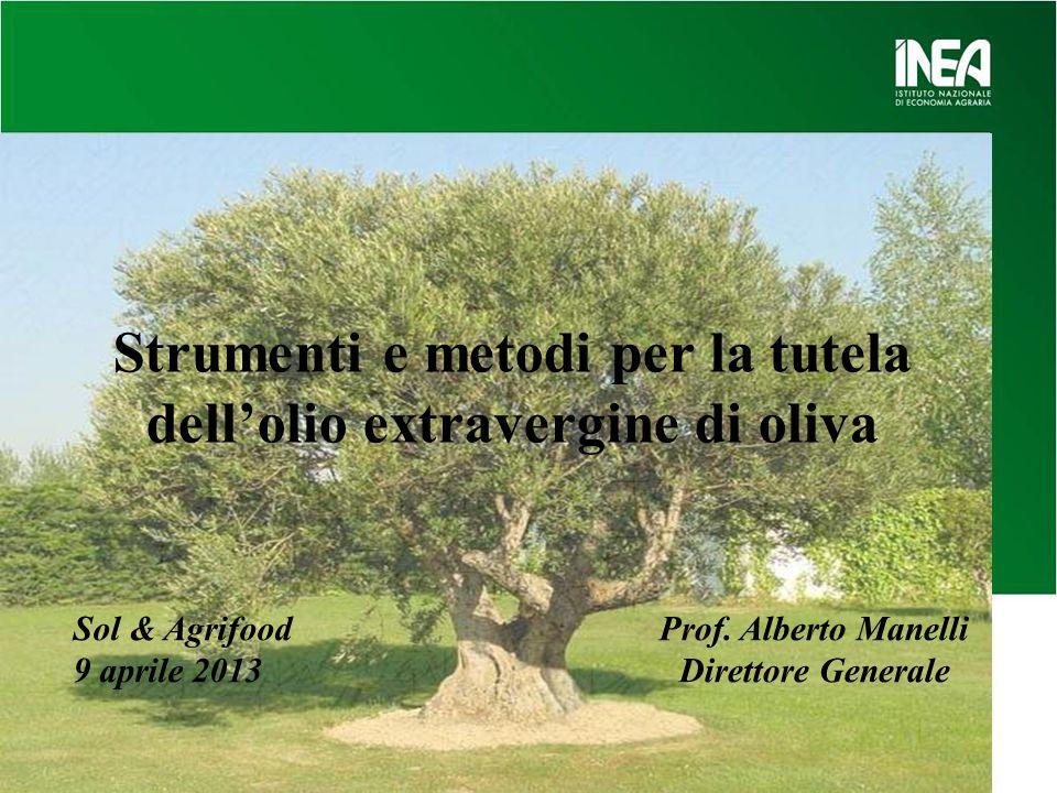 Strumenti e metodi per la tutela dell'olio extravergine di oliva