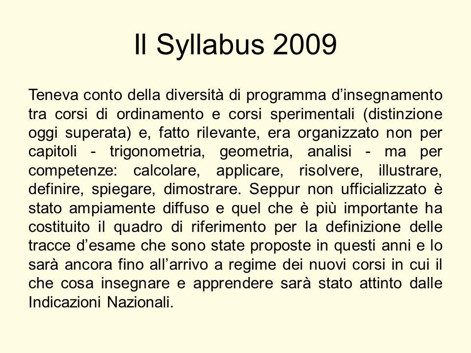 Il Syllabus 2009