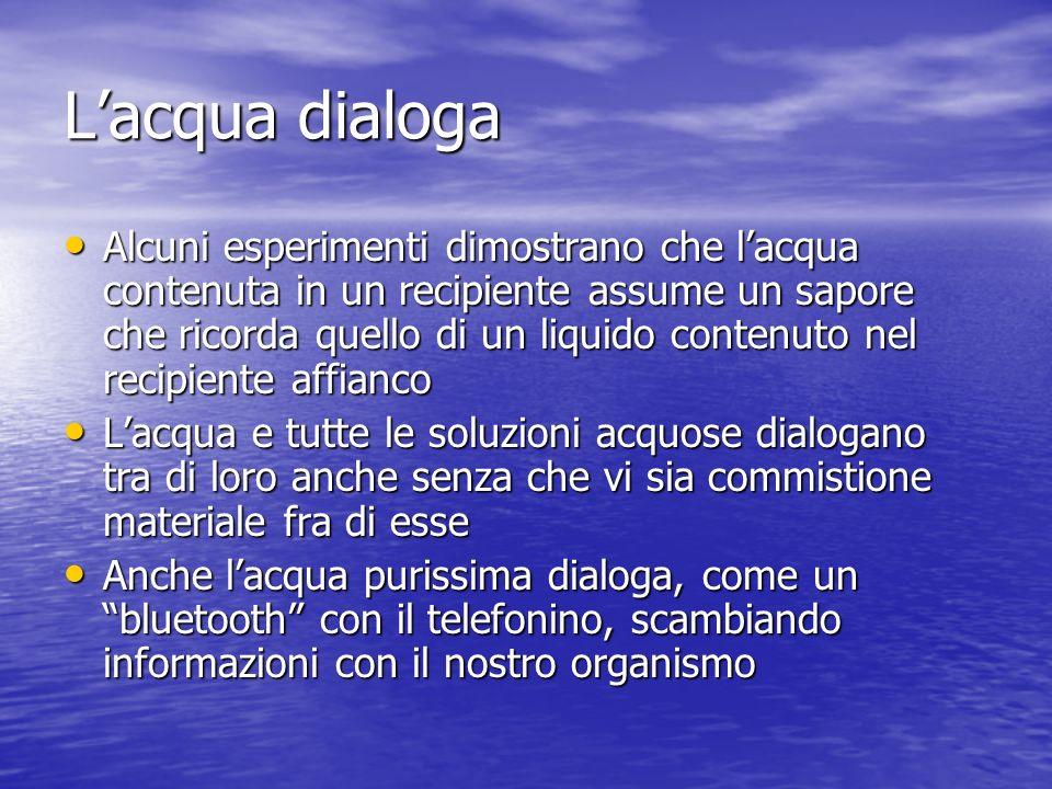 L'acqua dialoga