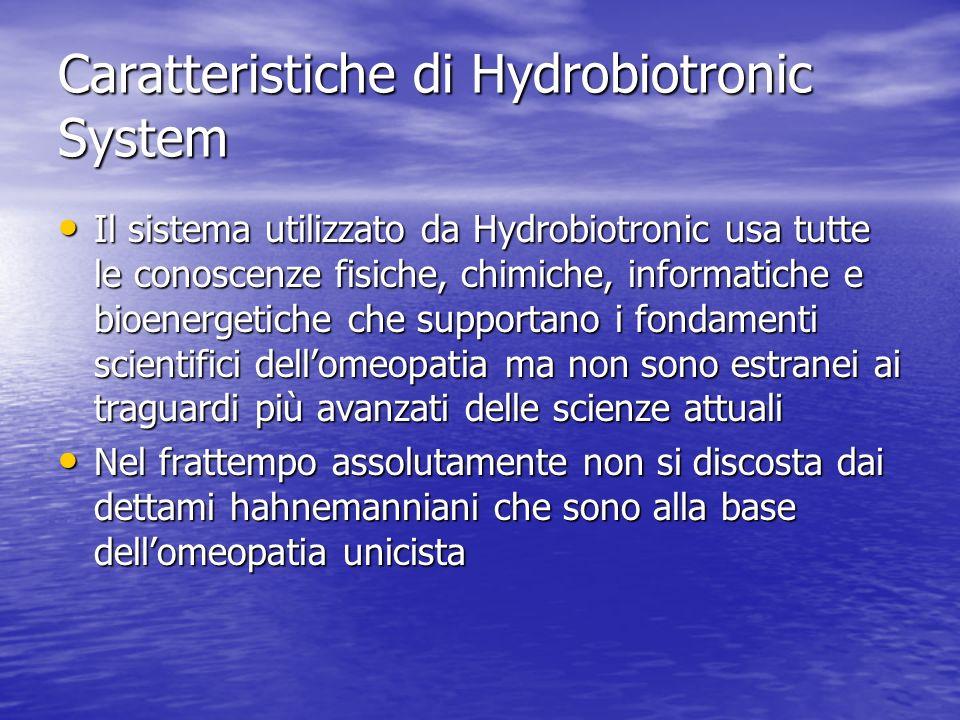 Caratteristiche di Hydrobiotronic System