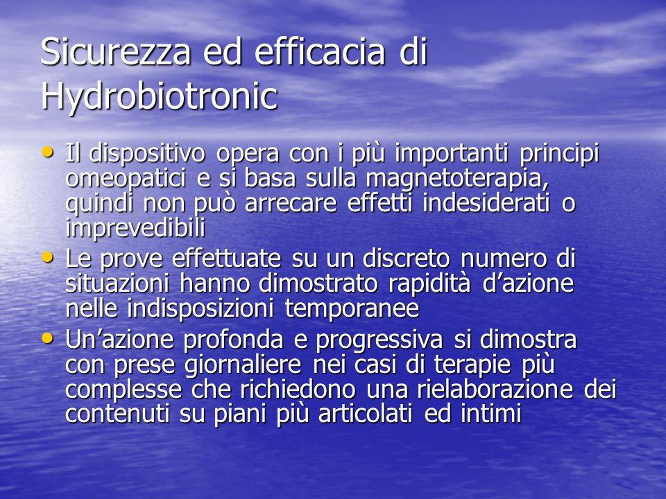 Sicurezza ed efficacia di Hydrobiotronic