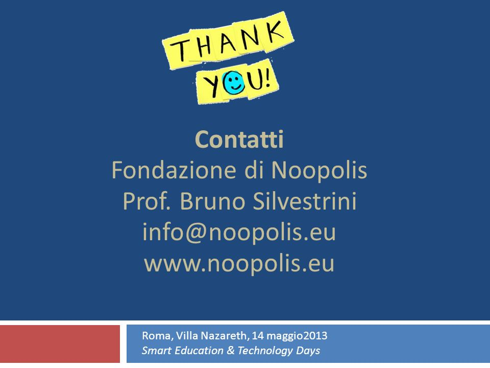 Fondazione di Noopolis Prof. Bruno Silvestrini info@noopolis.eu
