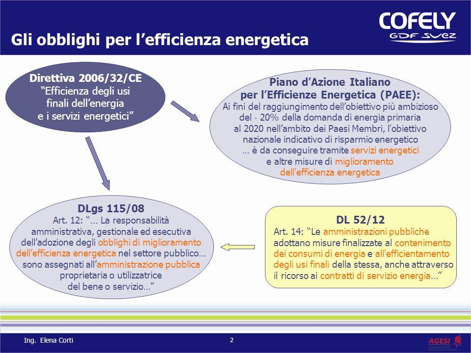 Gli obblighi per l'efficienza energetica