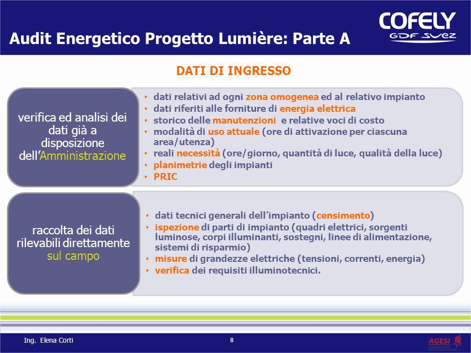 Audit Energetico Progetto Lumière: Parte A