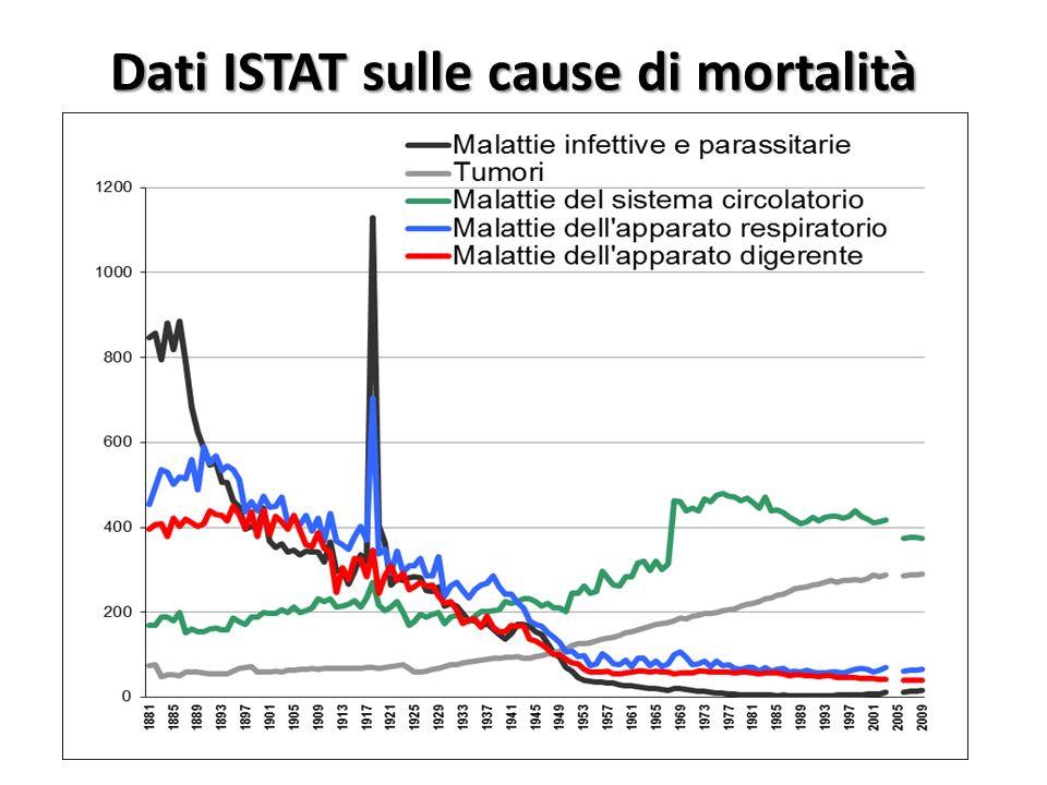Dati ISTAT sulle cause di mortalità