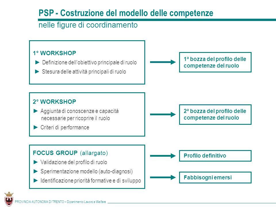 PSP - Costruzione del modello delle competenze
