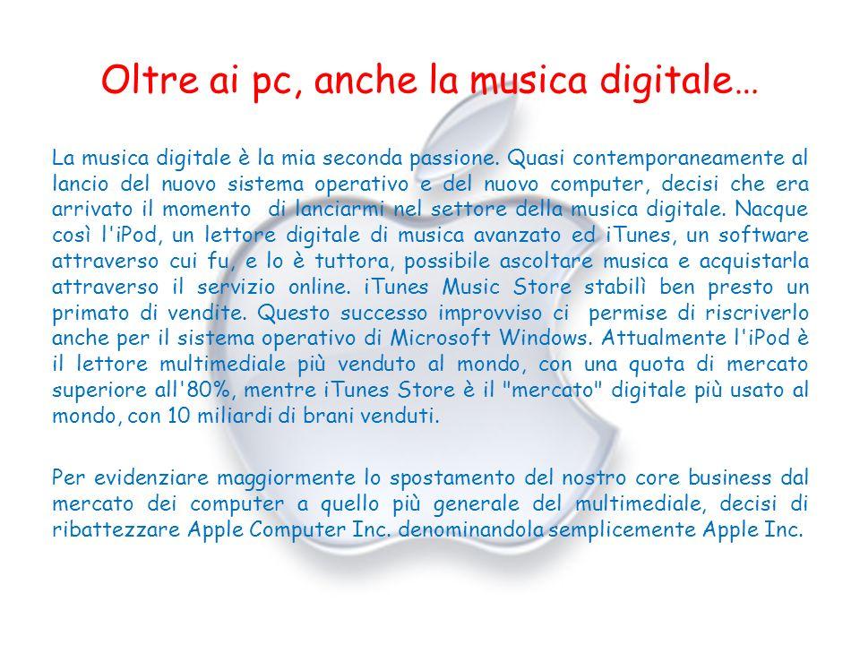 Oltre ai pc, anche la musica digitale…