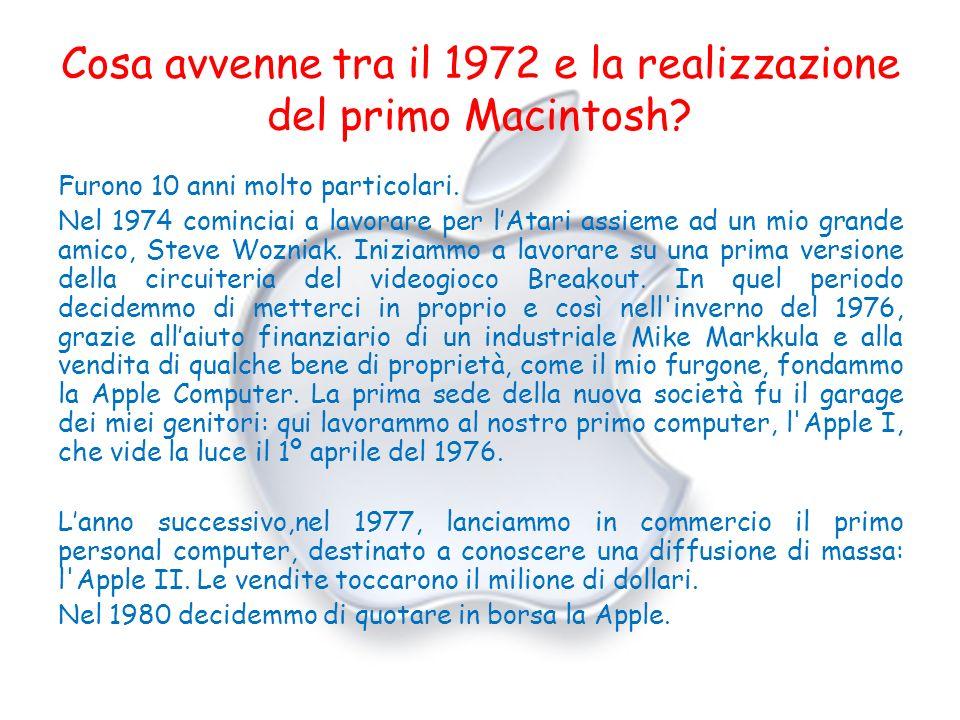 Cosa avvenne tra il 1972 e la realizzazione del primo Macintosh