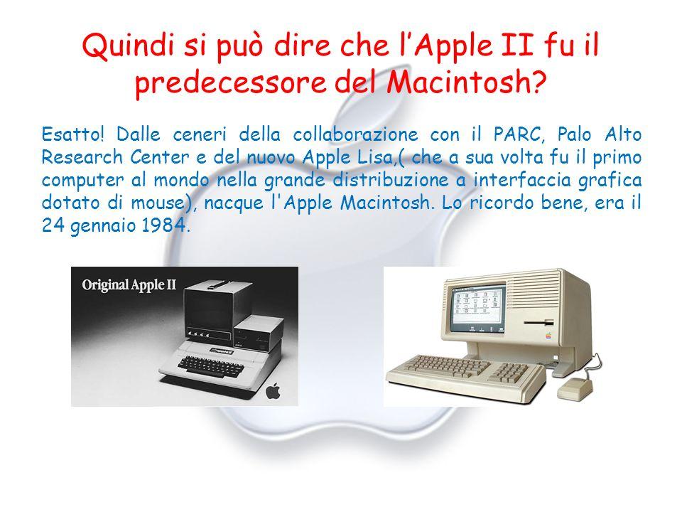 Quindi si può dire che l'Apple II fu il predecessore del Macintosh