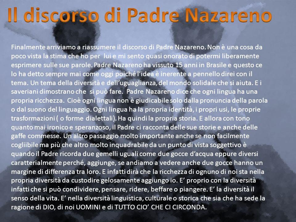 Il discorso di Padre Nazareno