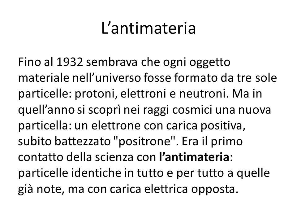L'antimateria