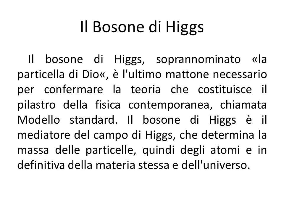 Il Bosone di Higgs