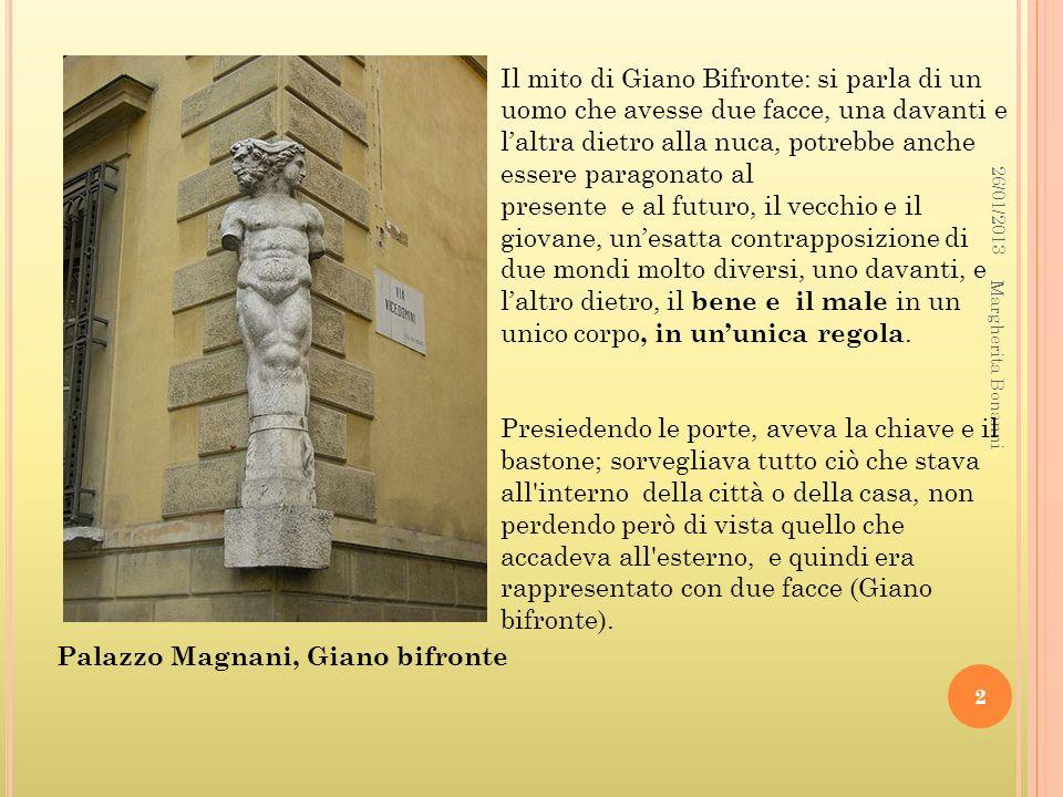 Palazzo Magnani, Giano bifronte