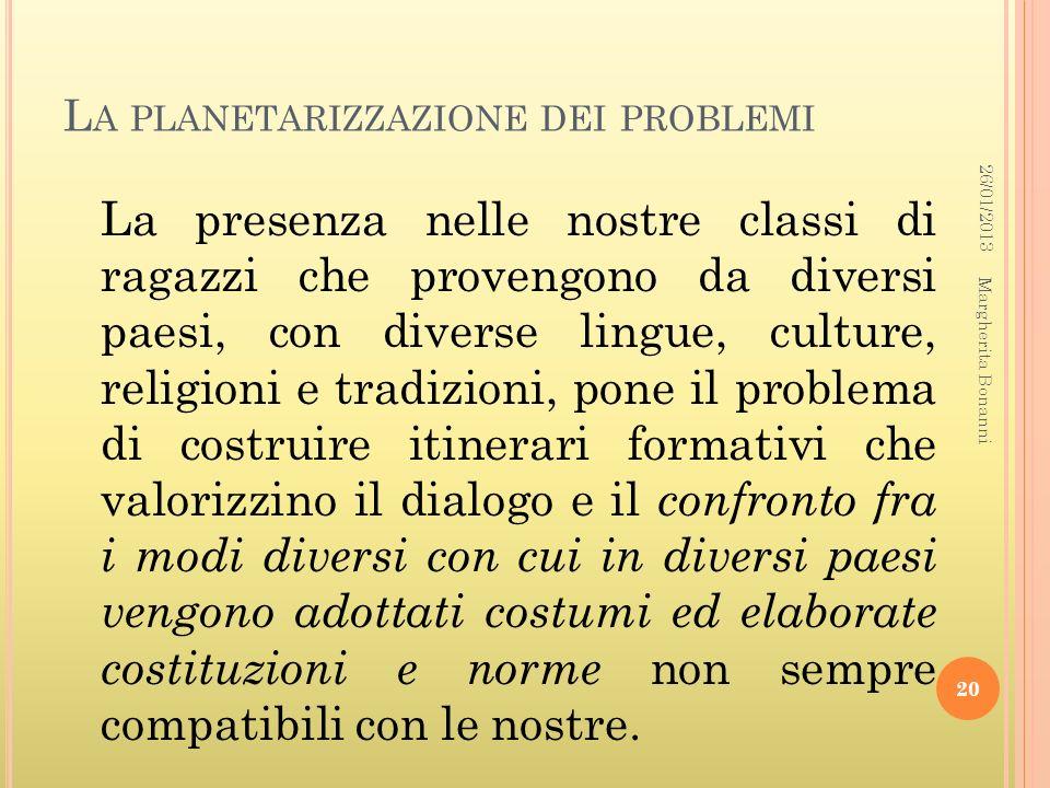 La planetarizzazione dei problemi