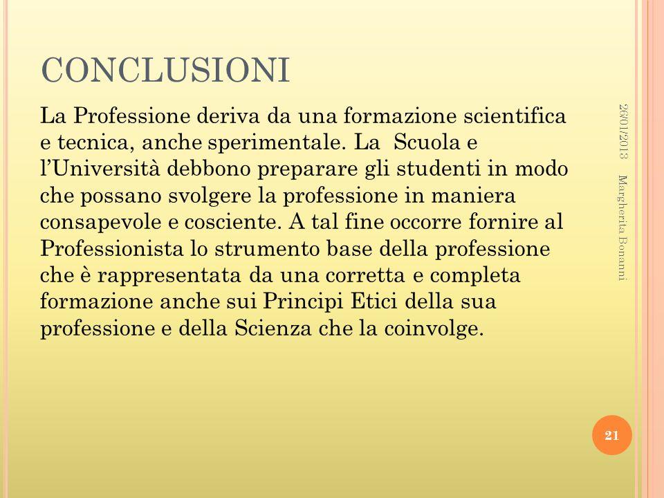 CONCLUSIONI 26/01/2013.