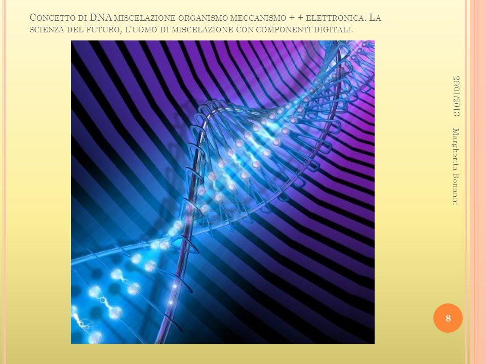 Concetto di DNA miscelazione organismo meccanismo + + elettronica