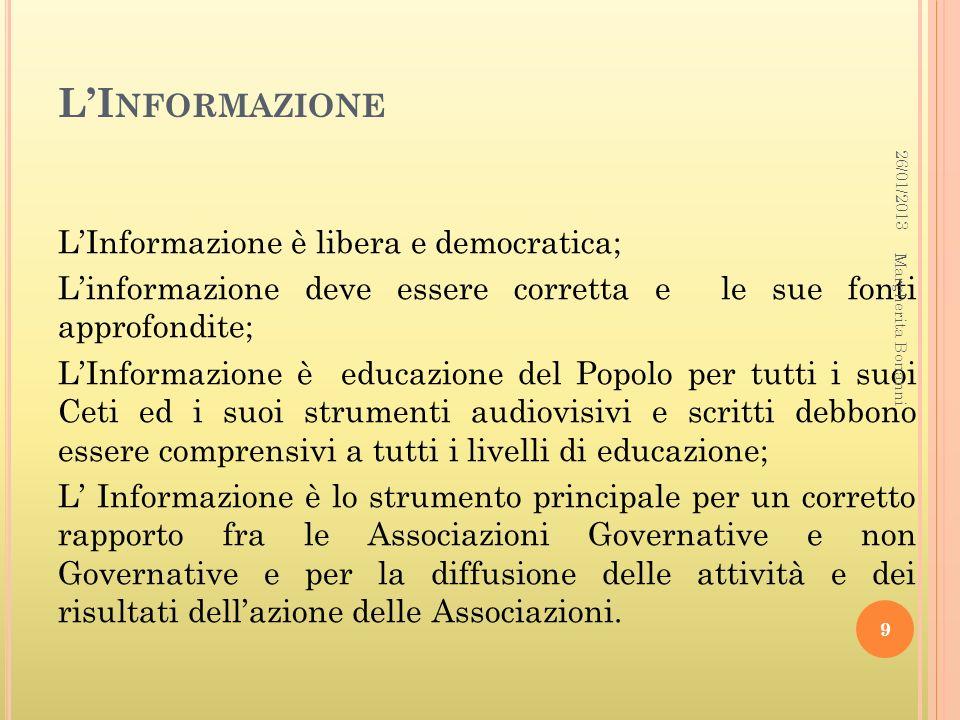 L'Informazione26/01/2013.