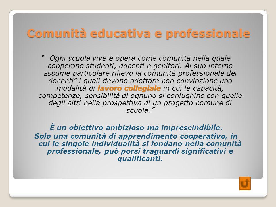 Comunità educativa e professionale