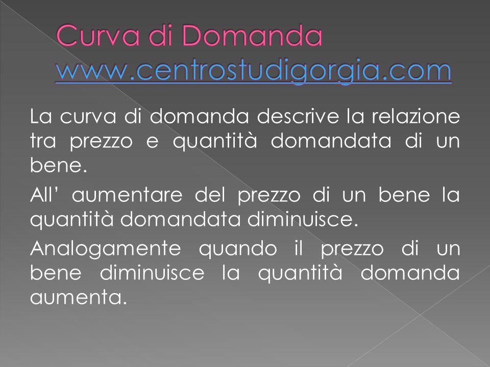 Curva di Domanda www.centrostudigorgia.com