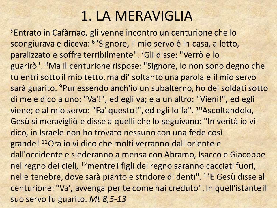1. LA MERAVIGLIA