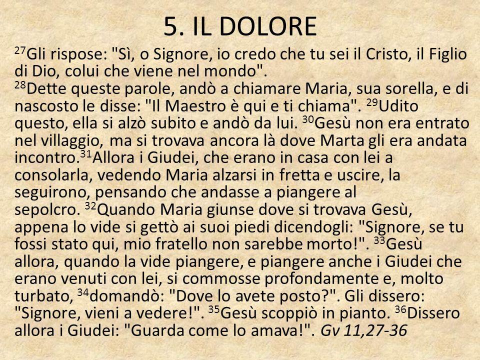 5. IL DOLORE
