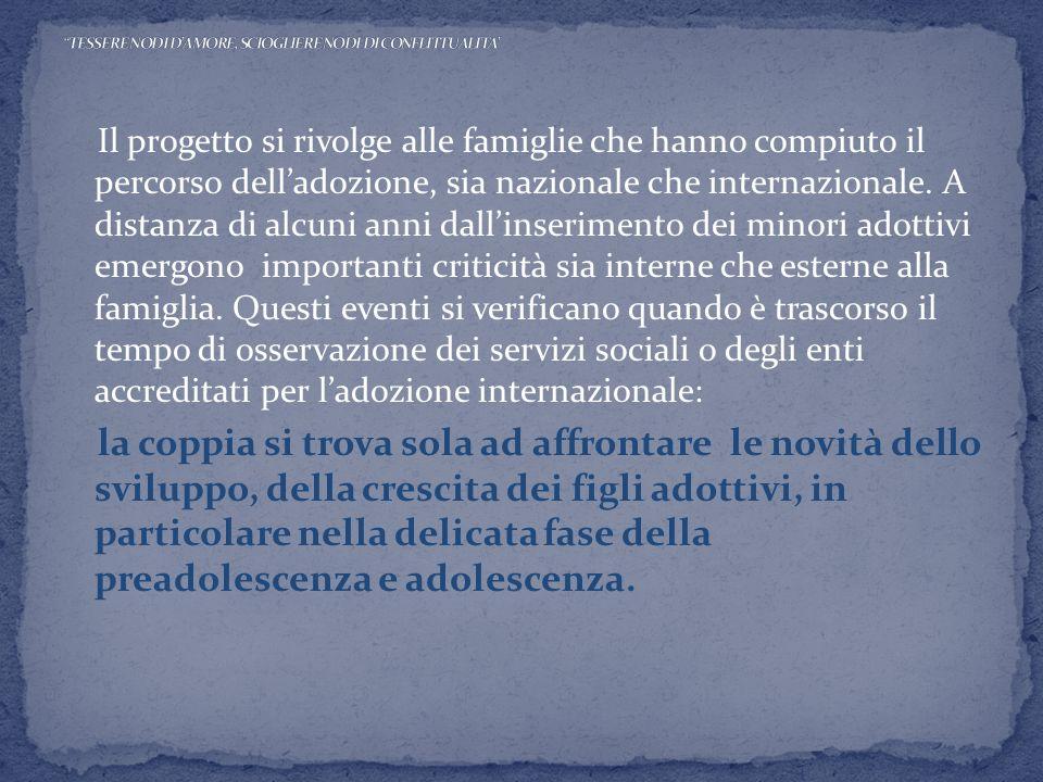 TESSERE NODI D'AMORE, SCIOGLIERE NODI DI CONFLITTUALITA'