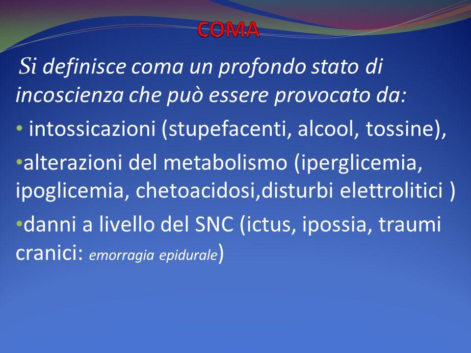 intossicazioni (stupefacenti, alcool, tossine),
