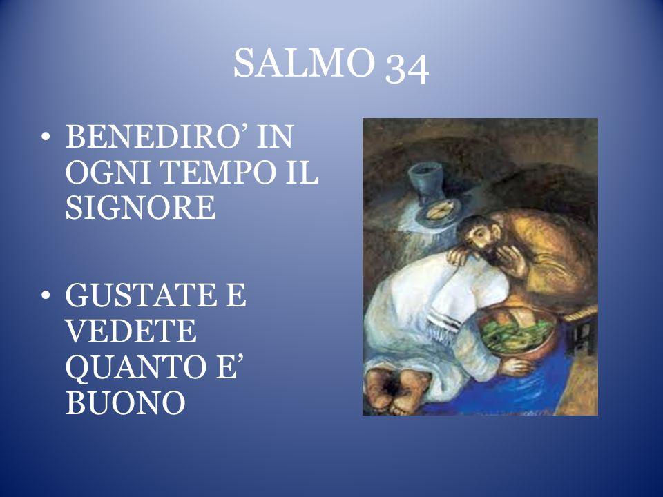SALMO 34 BENEDIRO' IN OGNI TEMPO IL SIGNORE