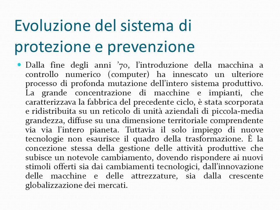 Evoluzione del sistema di protezione e prevenzione