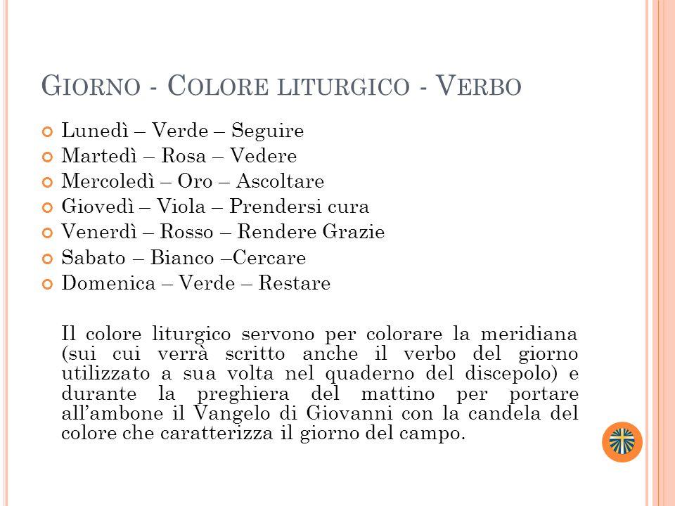 Giorno - Colore liturgico - Verbo