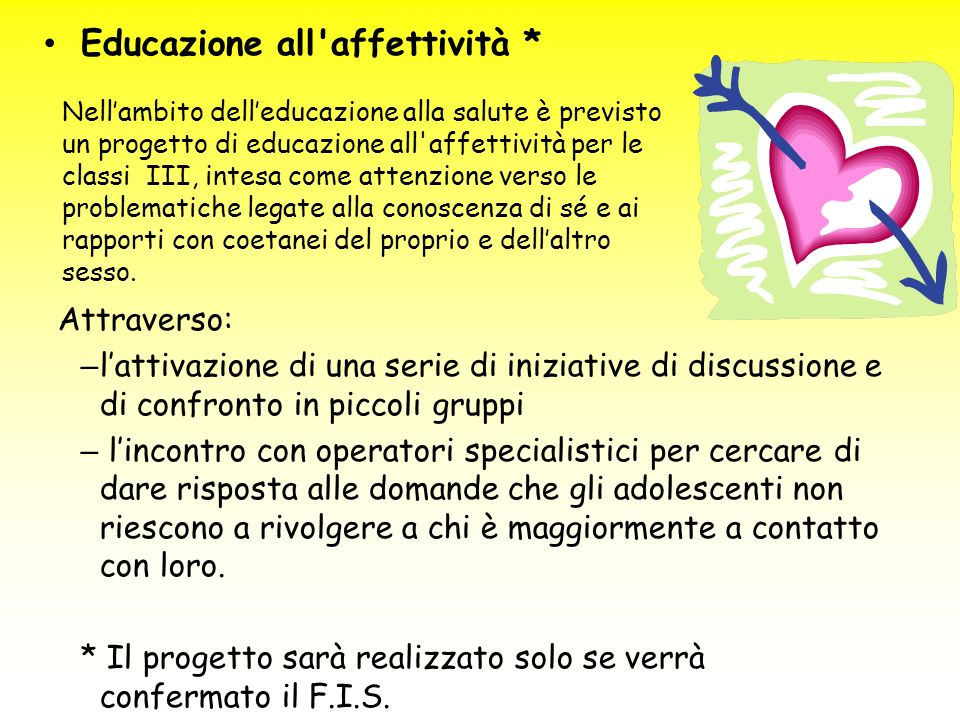 Educazione all affettività *