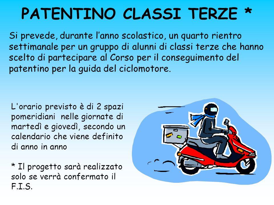 PATENTINO CLASSI TERZE *