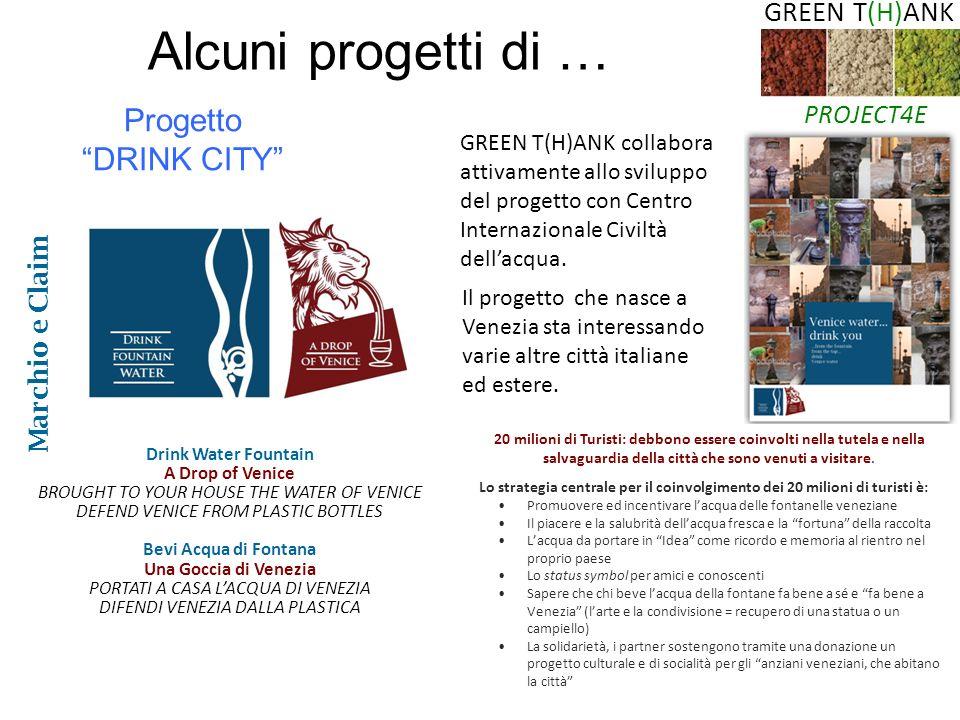 Alcuni progetti di … Progetto DRINK CITY GREEN T(H)ANK PROJECT4E
