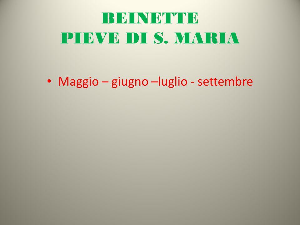 BEINETTE PIEVE DI S. MARIA