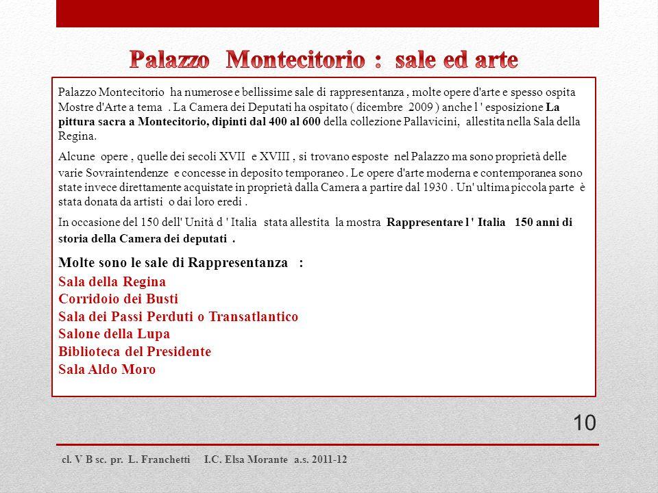 Palazzo Montecitorio : sale ed arte