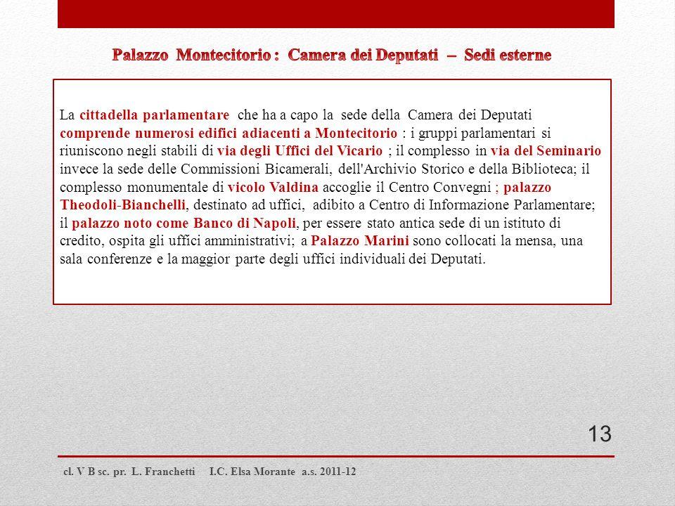 Palazzo Montecitorio : Camera dei Deputati – Sedi esterne