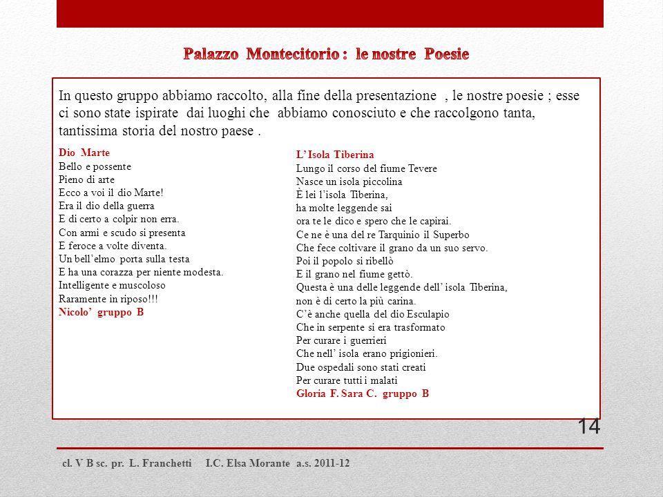 Palazzo Montecitorio : le nostre Poesie