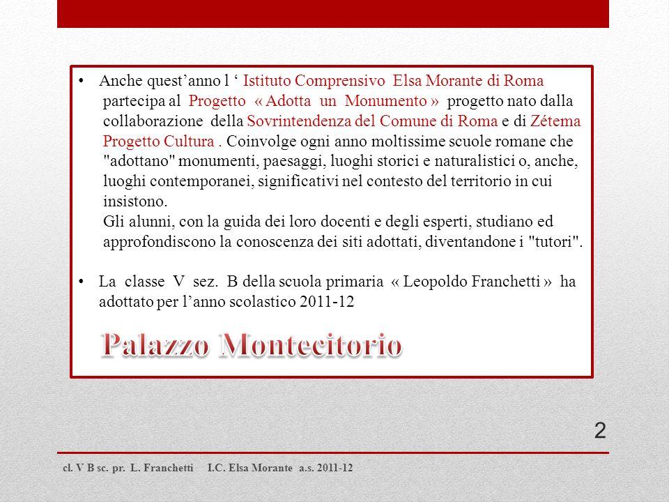 Anche quest'anno l ' Istituto Comprensivo Elsa Morante di Roma