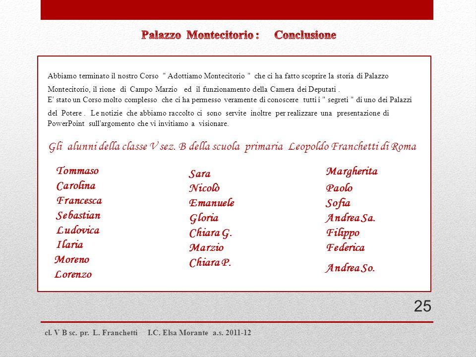 Palazzo Montecitorio : Conclusione