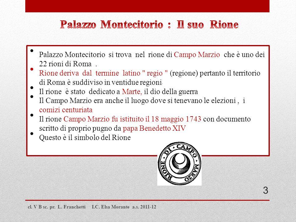 Palazzo Montecitorio : Il suo Rione